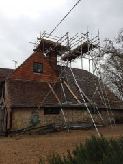 Scaffold erected in Guildford