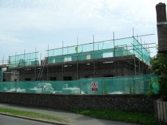 Commercial scaffolding erection in Horsham